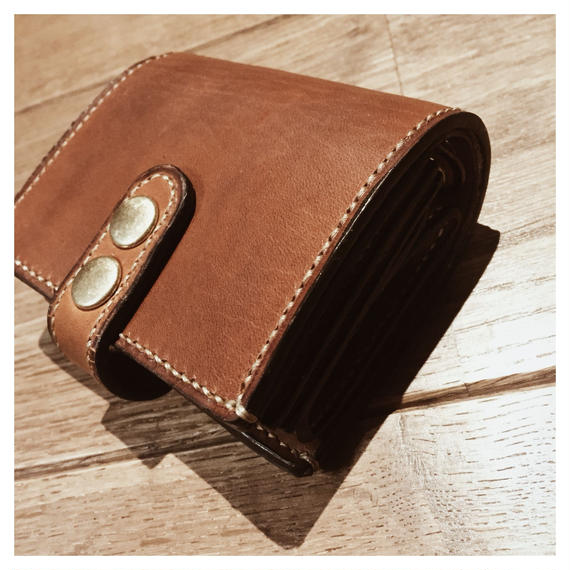 leather half wallet