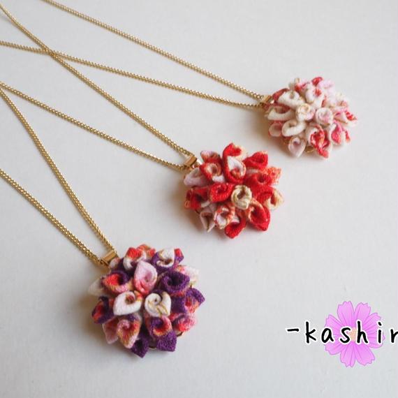 巻き花*花ネックレス