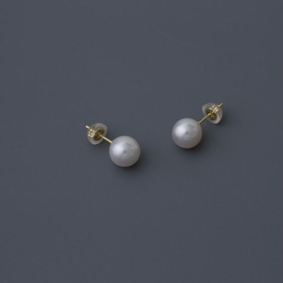 【earrings】18K akoya White pearl