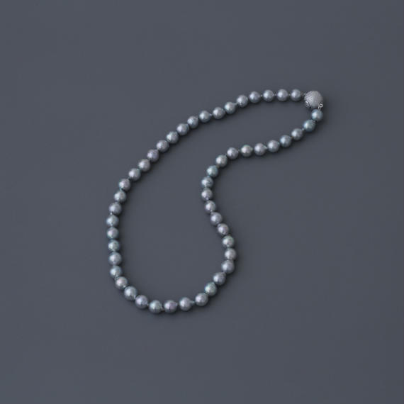 【necklace】 akoya gray baroque pearl(40cm)