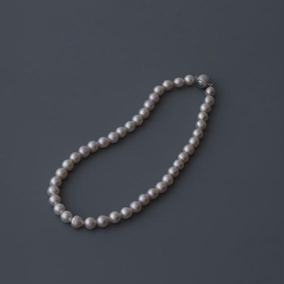 【necklace】akoya white baroque pearl