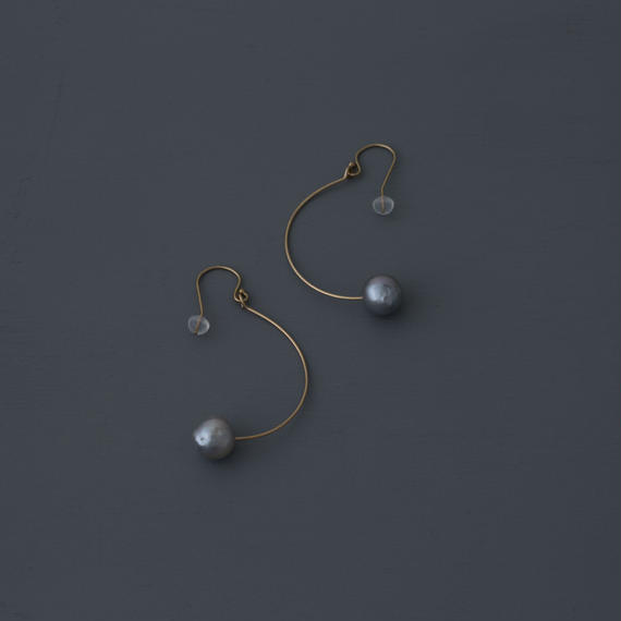 【earrings】1 point akoya baroque pearl
