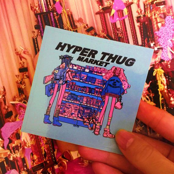 ORDER/【80㎜Sticker】HYPER THUG MARKET