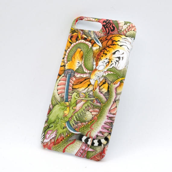 和柄 龍虎図 iPhone8plus用ケース