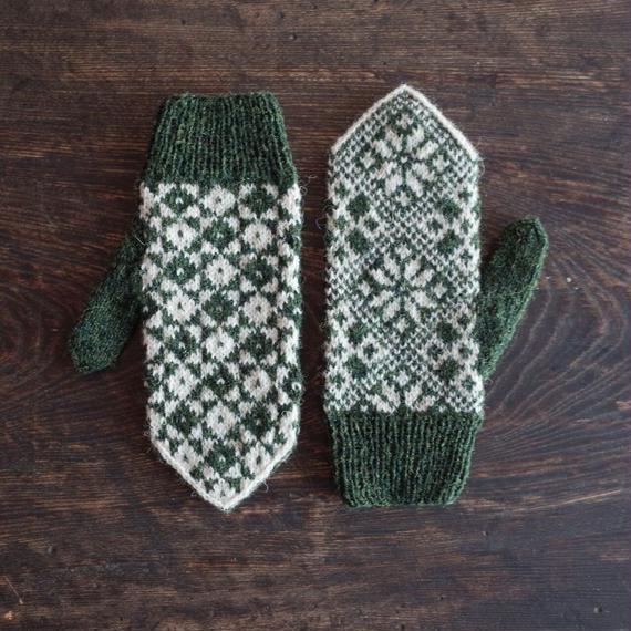 北欧風編み込み模様のミトン / Palapeli[パラペリ]/ 片手