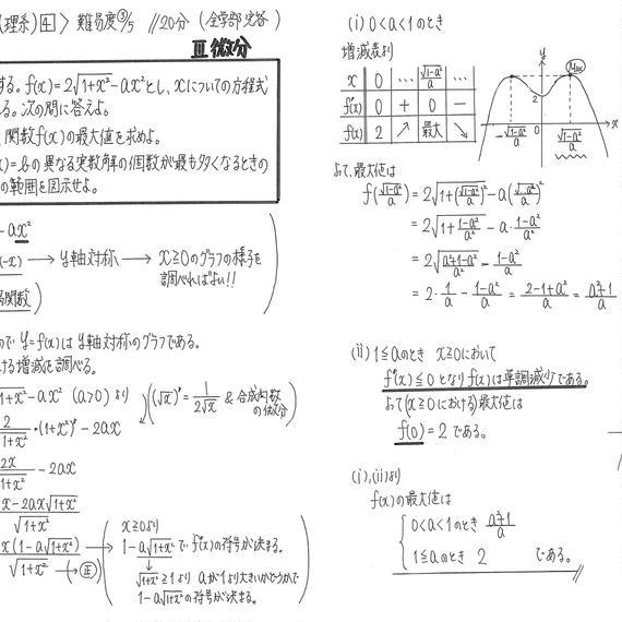 金沢大学11年分&九州大学3年分理系数学手書き解説プリント