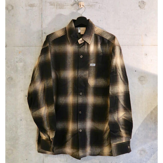 Cal Top Ombre Check L/S Shirt Brown