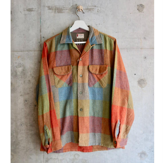 60's Vintage Wool Loop Design Shirt