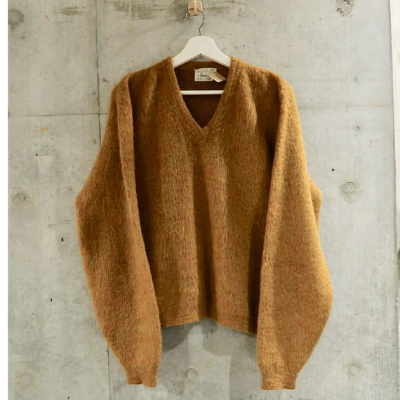 60's Vintage Mohair × Wool Knit
