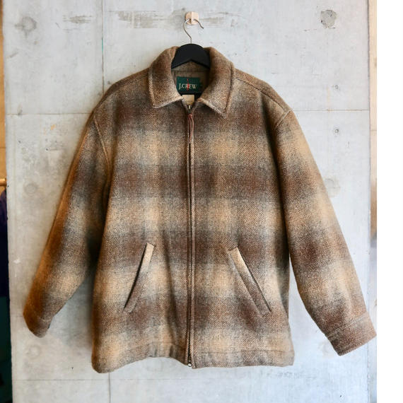 90's J.Crew Ombre Check Wool Jacket
