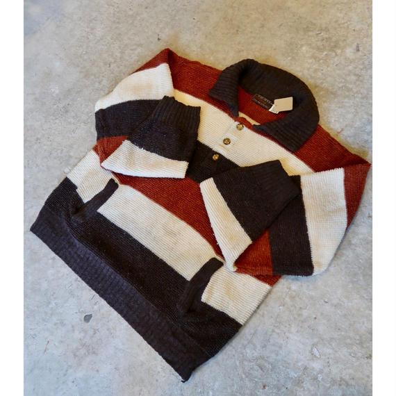 Vintage Three-tone L/S Polo Shirt