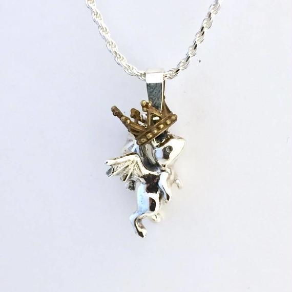 王様ウサギ(ペンダントトップ)[林檎屋]