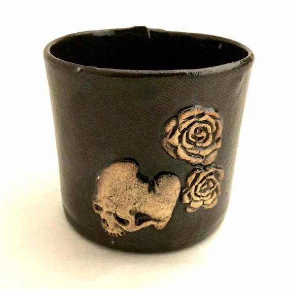 ドクロマグカップ~薔薇と髑髏~(販売終了)