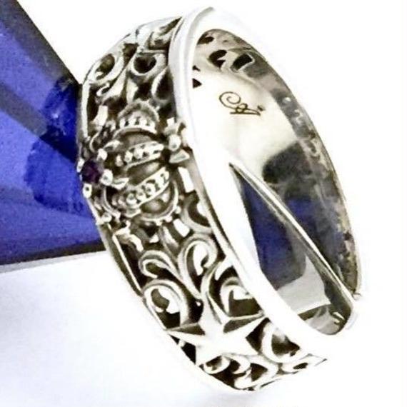 [Artemis Kings-ring]☆1点物☆★蛇骨堂限定販売★クラウンスターリングPL