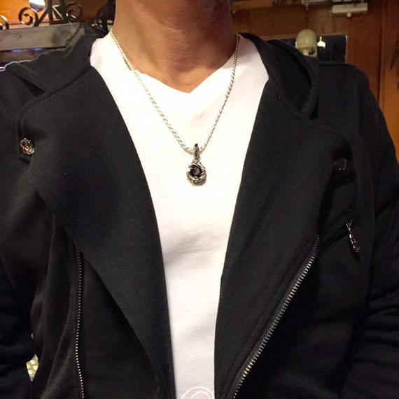 [Atelier Shima-pendant]Stone Pendant  スモーキークォーツ
