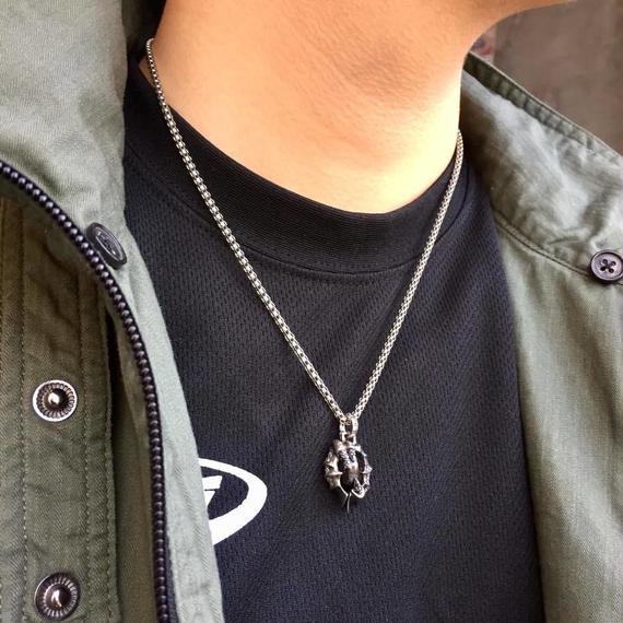 ★蛇骨堂限定販売★ミニブラックスターチャーム(ペンダントトップ)