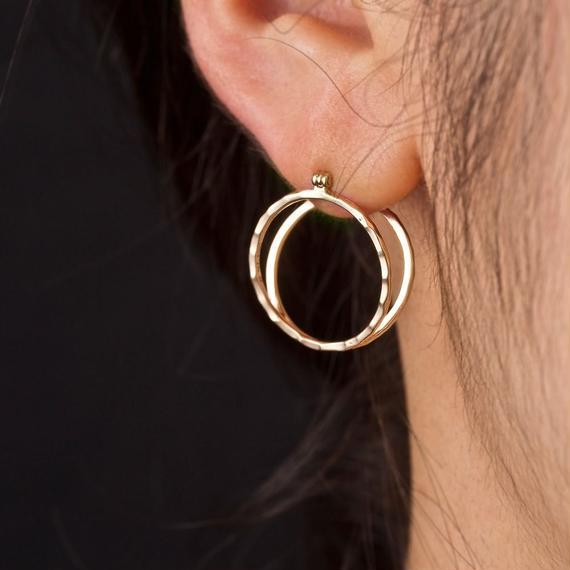 10金サークルピアス[Elenore Jewelry]