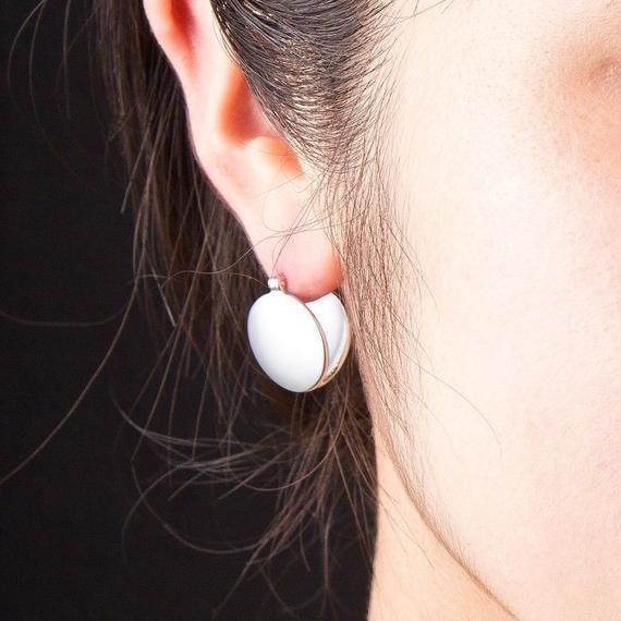 サークルプレートピアス[Elenore Jewelry]