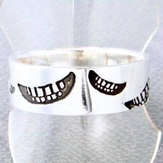 【8/5まで期間限定!】smile stamp ring L[smile_mammy]