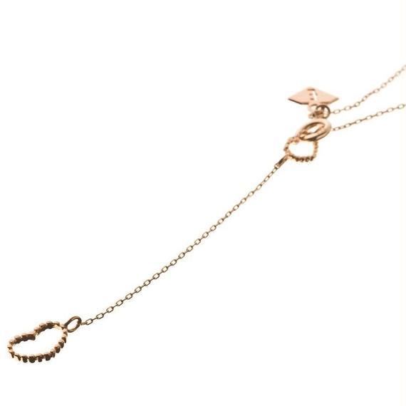 10金ハートYネックレス[Elenore Jewelry ]