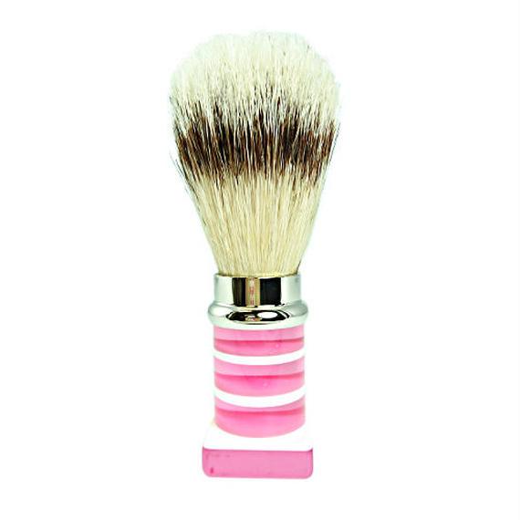 WEB限定 シェービングブラシ(豚毛)ピンク