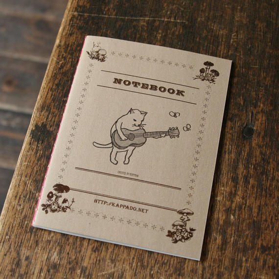 活版ノート 猫がギター