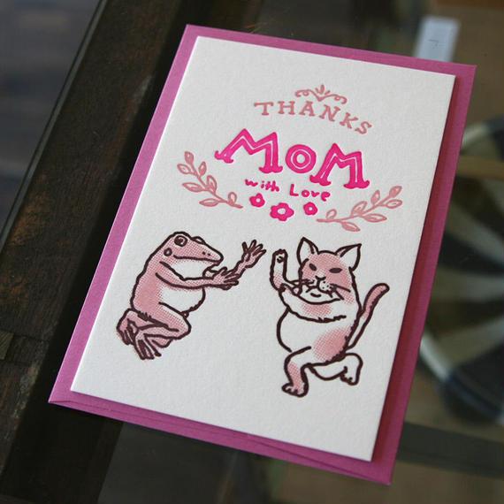 活版カード 母の日