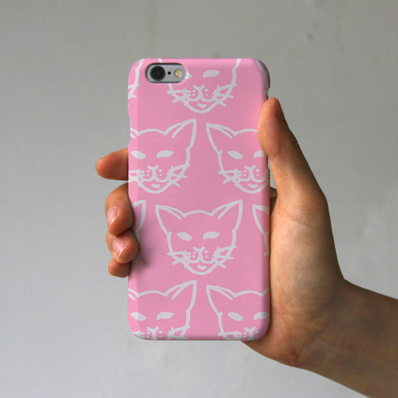 スマホケース 猫いっぱい(ピンク)