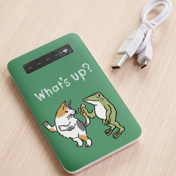 モバイルバッテリー しっぽ(グリーン)