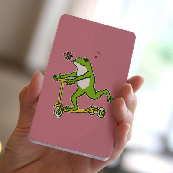 モバイルバッテリー カエルコースターGO(ピンク)