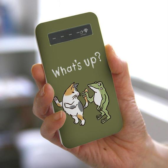 モバイルバッテリー しっぽ(オリーブ)