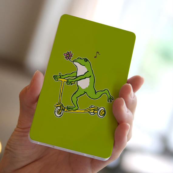モバイルバッテリー カエルコースターGO(あまがえる)