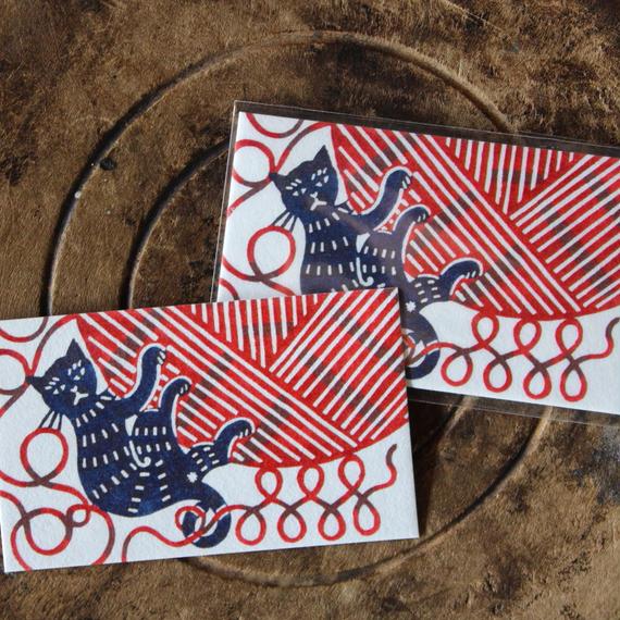 土佐和紙メッセージカード:猫