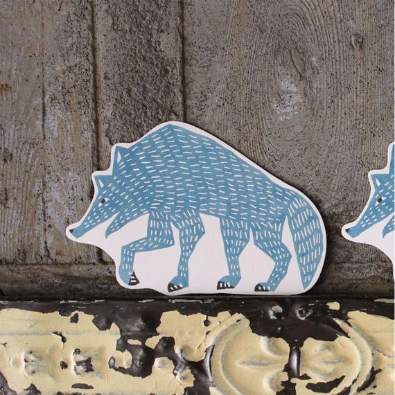 型抜きポストカード:オオカミ