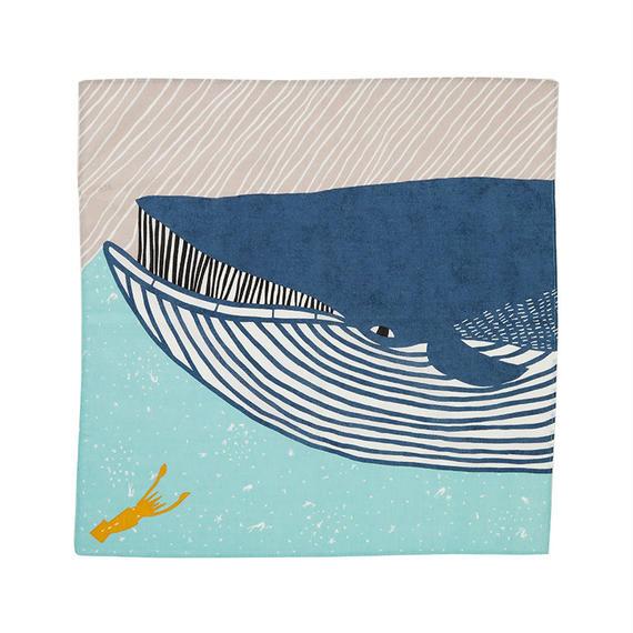 50cm ふろしき ナガスクジラ ブルー