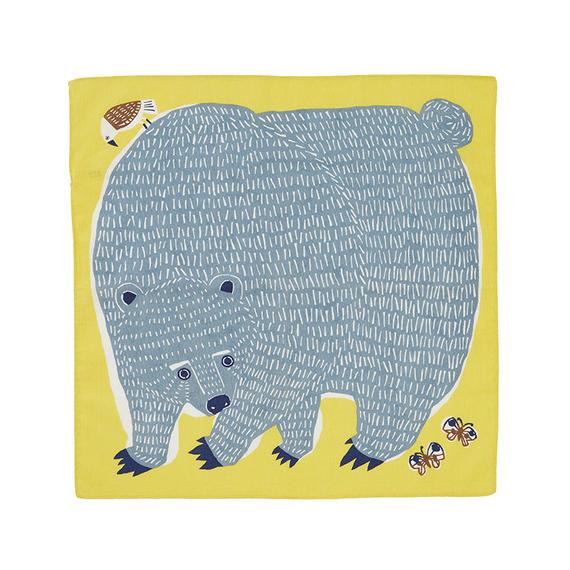 50cm ふろしき クマととり イエロー
