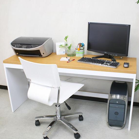 【激安/ネット最安値】薄型パソコンデスク ハイタイプ 幅150×奥行45 ナチュラル