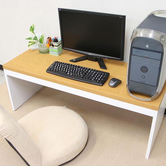 【激安/ネット最安値】薄型パソコンデスク ロータイプ 幅120×奥行45 ナチュラル