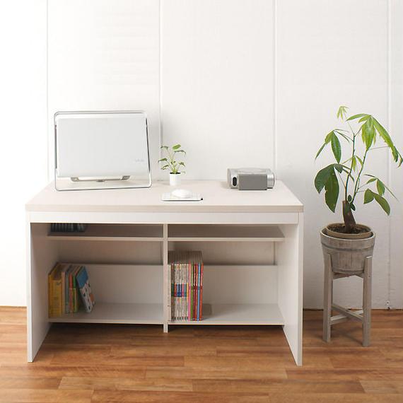 【激安/ネット最安値】パソコンデスク ハイタイプ 幅120×奥行60 ホワイト
