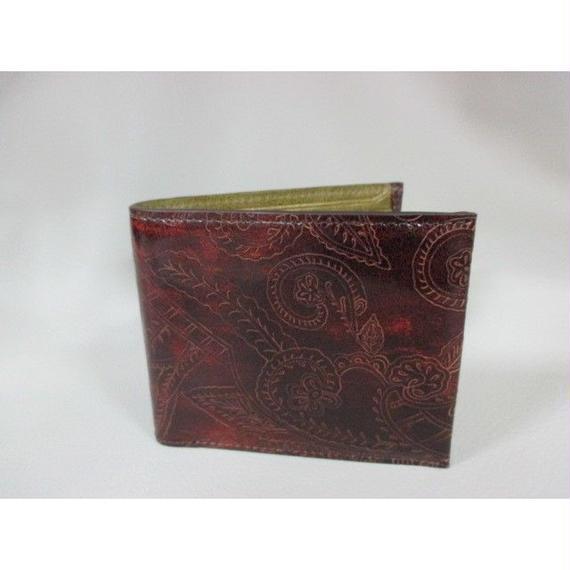 イタリア革 プッチーニ社製 レーザー加工革・二つ折り財布