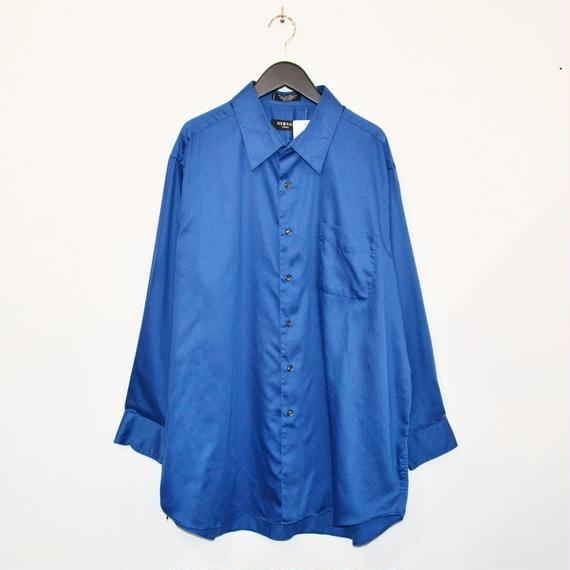 Deep blue color plain L/S shirt