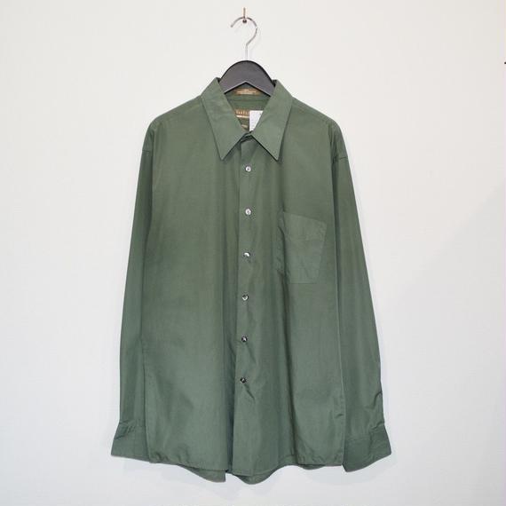 Grass Green color plain L/S shirt