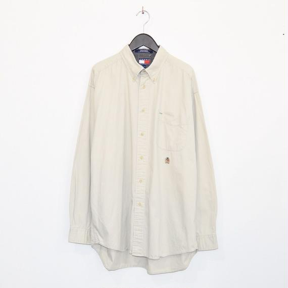 90s TOMMY HILFIGER L/S cotton shirt