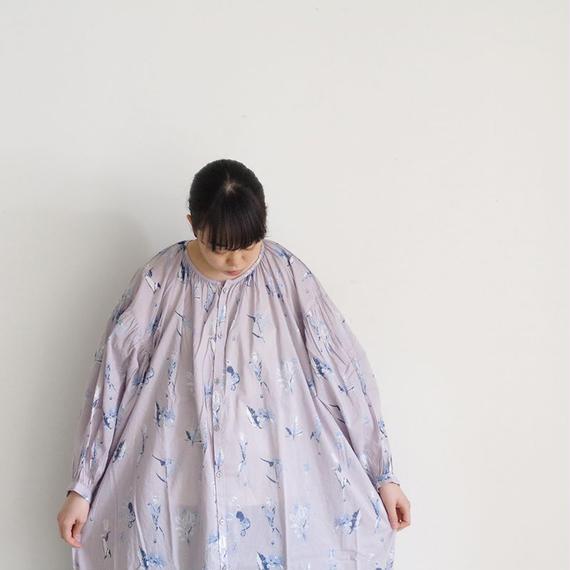 i c h i 181017 Botanical Flower Dress / Gray