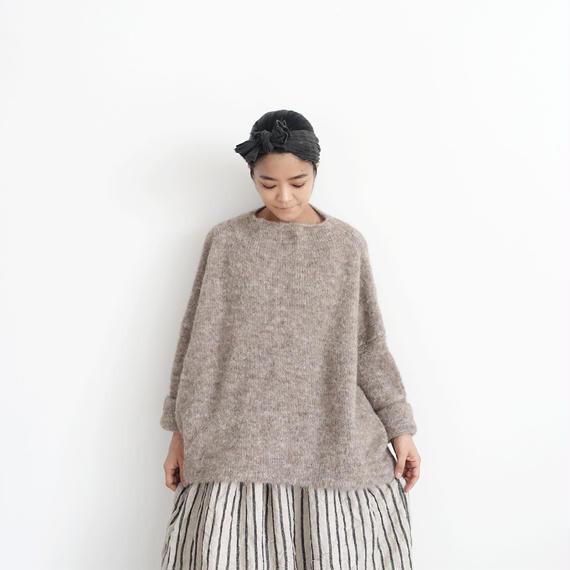 ichiAntiquités 100639 Alpaca mix Knit Wide Pullover / BEIGE
