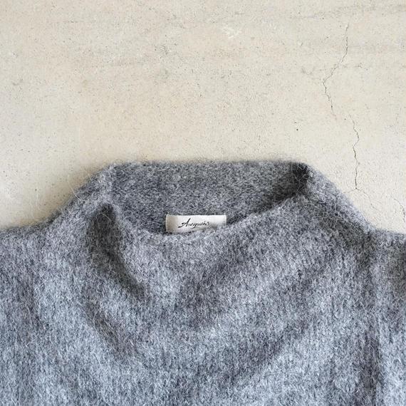ichiAntiquités 100639 Alpaca mix Knit Wide Pullover / CHARCOAL