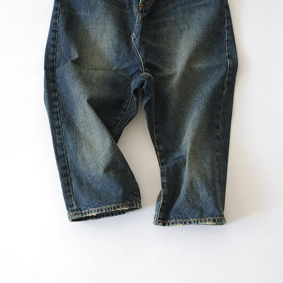 i c h i 140434 Denim Sarrouel Pants / Dark