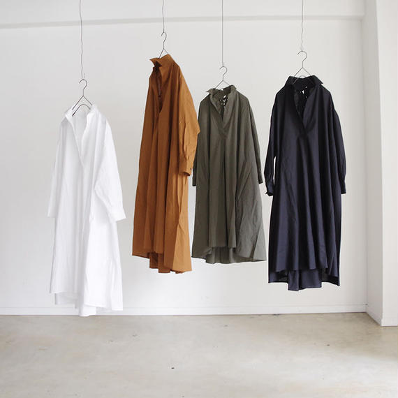 i c h i 180421 Cotton/Linen Lace-up Dress / Brown