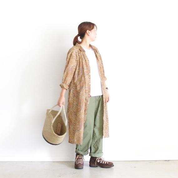 i c h i 180423 Cotton/Silk Paisley Dress / Beige