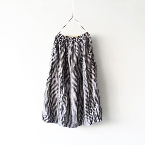 ichiAntiquités 100308 Linen Dungaree Skirt / GINGHAM